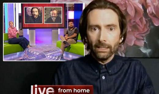 The One Show: David Tennant and Michael Sheen correct host