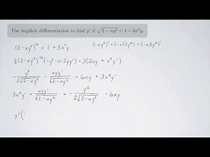 (Single-Variable Calculus 1) Implicit Differentiation Practice 2