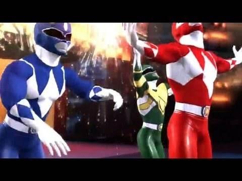 WWE '12: Power Rangers vs John Cena, Zack Ryder & Santino