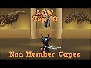 AQW Top 10 Capes 2018 | Free Player - Non Member