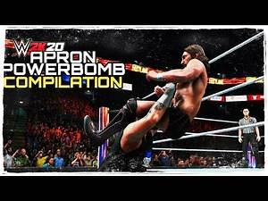 WWE 2K20 - APRON POWERBOMB COMPILATION