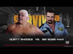 WWE 2K16 - Legends DLC - Dusty Rhodes vs Big Bossman [ HD ]