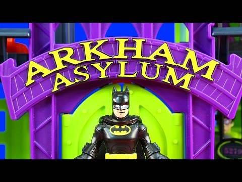 Imaginext Arkham Asylum Tour With DC Super Friends Fisher Price Batman Joker Bane And The Riddler