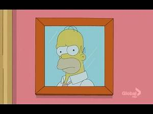 Homer's reflection in the mirror is angry at him (The Simpsons)