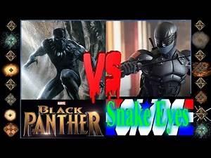 Black Panther (Marvel Comics) vs Snake Eyes (G.I. Joe) - Ultimate Mugen Fight 2016