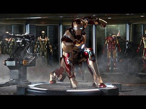 Mark 42 Suit Test Iron Man 3 2013 MOVIE CLIP (4K HD) Scene