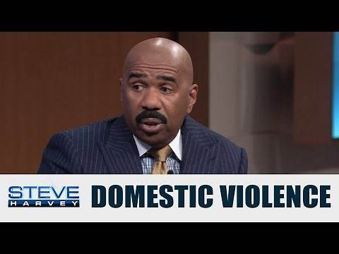 Domestic abuse is a serious issue    STEVE HARVEY