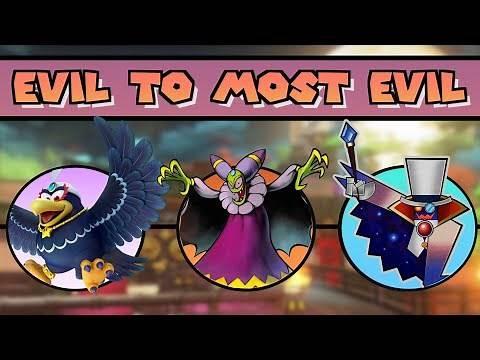 Evil to Most Evil: Mario Villains!