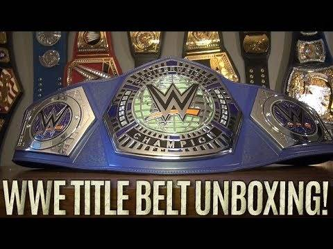 WWE Replica Cruiserweight Championship Title Belt Unboxing!!