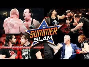 WWE Summerslam 2017 Full Match Card Predictions!