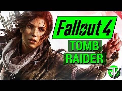 FALLOUT 4: Lara Croft TOMB RAIDER Survivalist Character Build in Fallout 4!