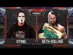 WWE RAW 2014 - Sting vs Seth Rollins Full Match HD!