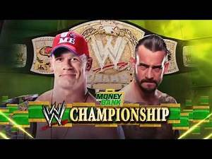 Cm Punk vs John Cena Money in the Bank 2011 Highlights