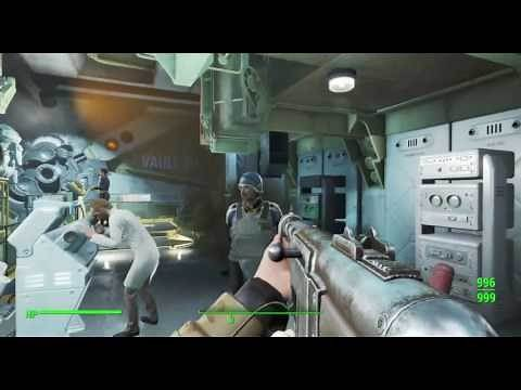 Fallout 4 - Cheat room, pre-war vault in stuff