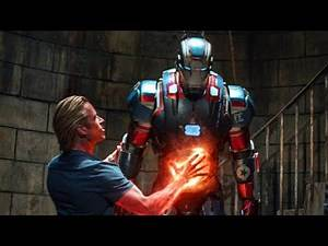 Tony Stark Escapes Rhodey vs Killian fight scene Iron Man 3 2013