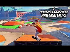 19 Minutes of Tony Hawk's Pro Skater 1 And 2 Remake Gameplay!