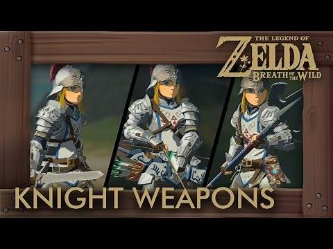 Zelda Breath of the Wild - All Knight Weapons (Complete Set Location)