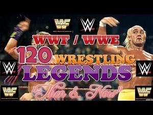 120x WWF / WWE WRESTLING LEGENDS 'THEN & NOW' YOUNG & OLD 2019