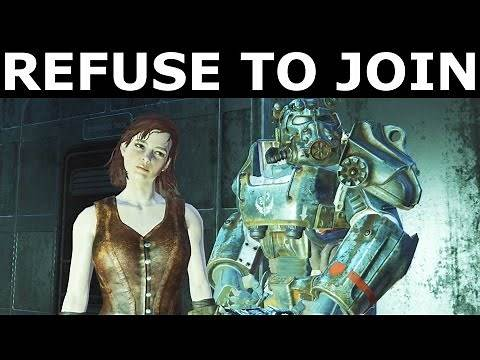 """Fallout 4 - All Companions Comments - Refuse To Join The BoS - """"Call To Arms"""" Quest"""