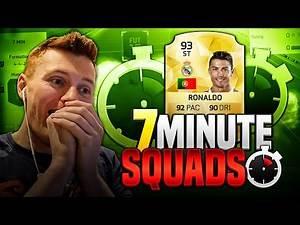FIFA 16 - INSANE STRIKER RONALDO 7 MINUTE SQUADS!!!!