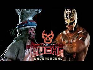 LUCHA UNDERGROUND March 2015 King Cuerno vs. Rey Mysterio Jr. - Extreme Lucha - MATCH SIMULATION