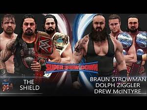 WWE 2K19 Super Show-Down 2018 - The Shield vs Braun Strowman, Dolph Ziggler & Drew McIntyre!