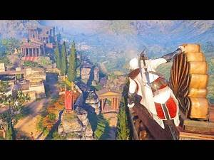Assassin's Creed Odyssey: Ezio's Outfit Parkour and Stealth Gameplay