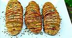 HASSELBACK POTATOES Recipe - How to make Crispy Good Baked Potatoes