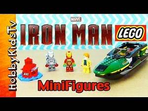 Lego IRON MAN Extremis Sea Port Rescue Build HobbyKidsTV