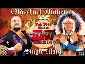 Oldschool Universe #009 RAW | Match 3: Bam Bam Bigelow VS. Tatanka | WWE 2K16