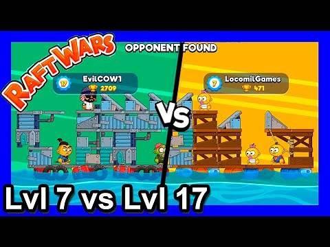 How to Win Raft Wars Multiplayer - Lvl7 vs Lvl17 - poki.com