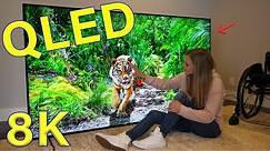 Is QLED better than OLED? - Unboxing a Massive QLED 8K TV!