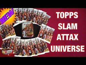TOPPS WWE SLAM ATTAX UNIVERSE TRADING CARDS MEGA OPENING