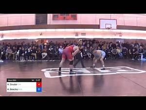 97 Kg Quarterfinal Kyle Snyder Titan Mercury Wrestling Club NLWC Vs Kevin Beazley New York Athleti