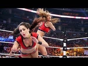 WWE Hell in a Cell 2014 - Nikki Bella vs. Brie Bella FULL MATCH