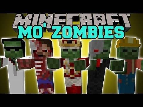 Minecraft: MO' ZOMBIES (13 NEW TYPES OF CRAZY ZOMBIES!) Mod Showcase