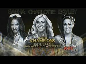 WWE 2K16 Prédiction Clash of Champion Women's Championship Charlotte vs Bayley vs Sasha Banks