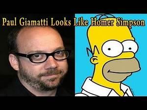 Paul Giamatti Looks Like Homer Simpson