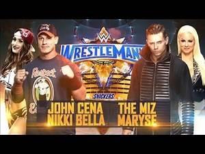 WWE Wrestlemania 33: The Miz and Maryse VS John Cena and Nikki Bella