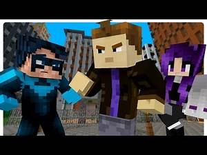 Teen Titans: BlackFire Kidnaps Nightwing! (Minecraft Roleplay)