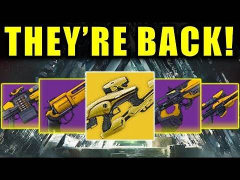 ALL Vault of Glass Raid Weapons! | Returning in Destiny 2!