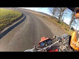 Motorcycle slips on ice patch Crash Ride Safe