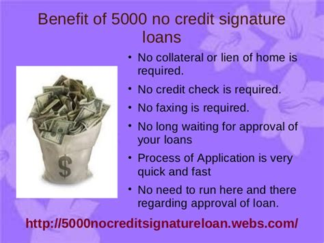5000 no credit check signature loans