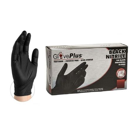 black nitrile industrial glove textured ammex corp .