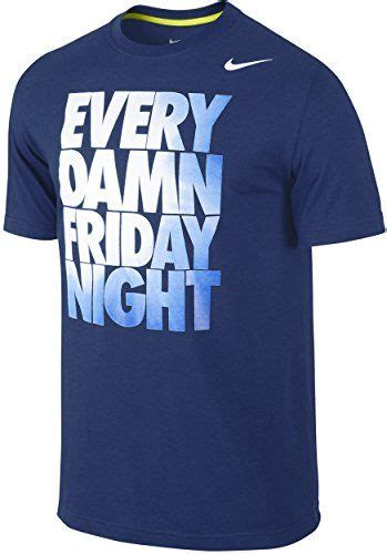 'Every Damn Friday Night' Cloud Gradient Block Text Graphic Dri-Fit T-Shirt