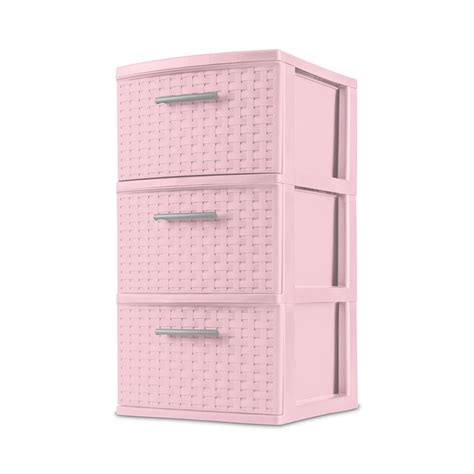 how to use sterilite decorative 3 drawer storage weave tower review Image