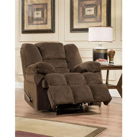 00896276513609 Dynasty Chocolate Swivel Recliner