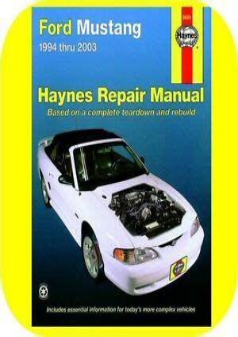 01 Ford Mustang Gt Repair Manual