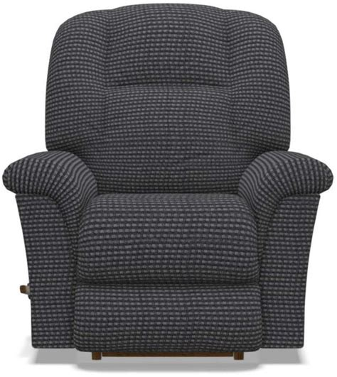 010-512 Lazy Boy Rocker Recliner In Navy Leather Match
