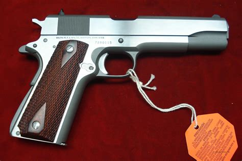 01070A1CS Colt Series 70 Stainless Govt 45 ACP For Sale
